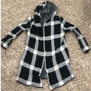 Checkers hooded cardigan - MED